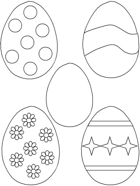 small easter egg template easter egg templates coloring home
