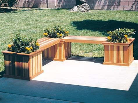 plant bench plans planter bench furniture plan 066d 0019 house plans and more