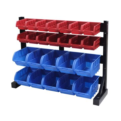 Shop international tool storage 25 pack 33 in w x 25 in h x 9 in d black plastic bin at lowes com