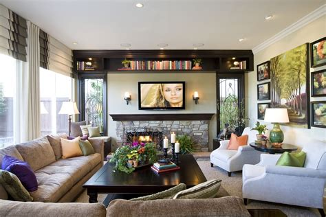 decorate family room modern traditional family room before and after san