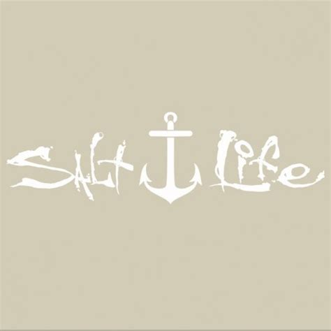 salt life decal salt life signature anchor decal