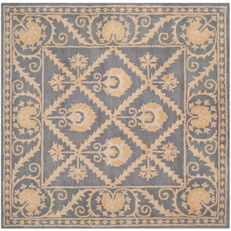 10 5 X 10 5 Square Ft Rug by Safavieh Blue Gold 5 Ft X 5 Ft Square Area Rug