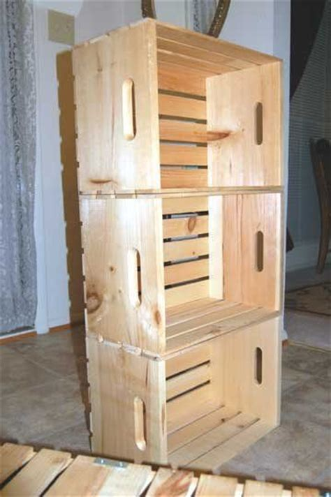 how to make shelves out of fruit crates