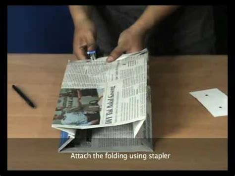 How To Make Paper Bags Out Of Newspaper - renews how to make newspaper bag staple version