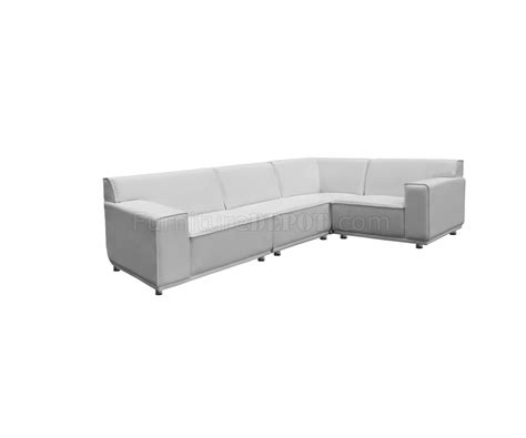 white faux leather sectional parker modular sectional sofa in white faux leather by