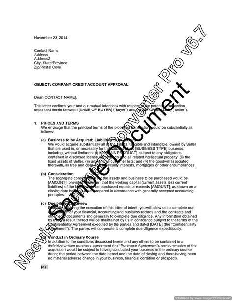 Sle Of Letter Of Intent To Purchase Products Letter Of Intent To Purchase A Business Lawyer Au