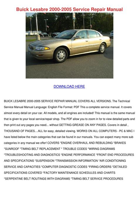 car repair manuals online pdf 2000 buick park avenue security system buick lesabre 2000 2005 service repair manual by cathi keegan issuu