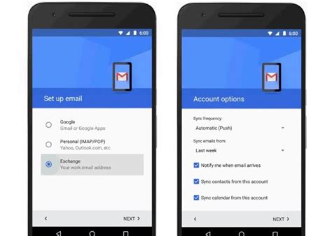 gmail apps for android android gmail app now supports exchange mail accounts geeky gadgets