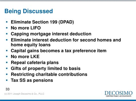 tax issues and planning 2011