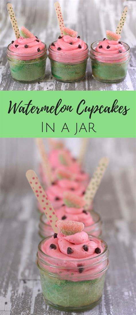 these watermelon cupcakes would be perfect for a picnic a collapsible watermelon cupcakes cupcakes in a jar
