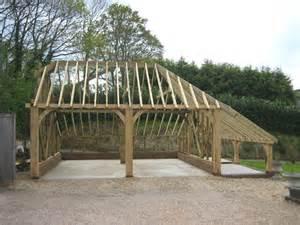 building an oak framed garage building your own oak