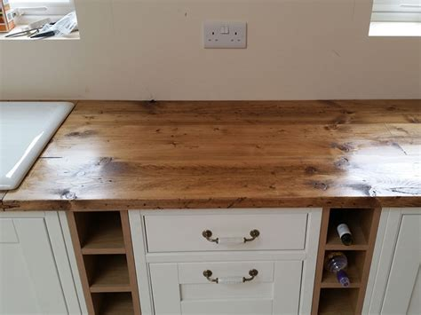Kitchen Cabinet Brackets reclaimed scaffold worktops dove furniture amp kitchens york