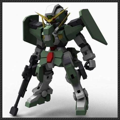 Gundam 00 Papercraft - sd gn 002 dynames gundam paper model free