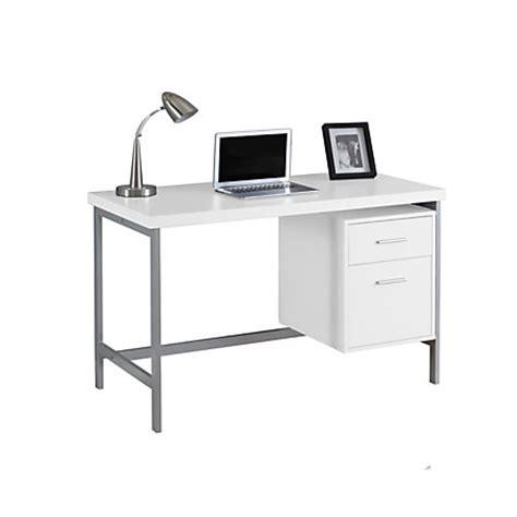 mdf computer desk monarch specialties contemporary mdf computer desk
