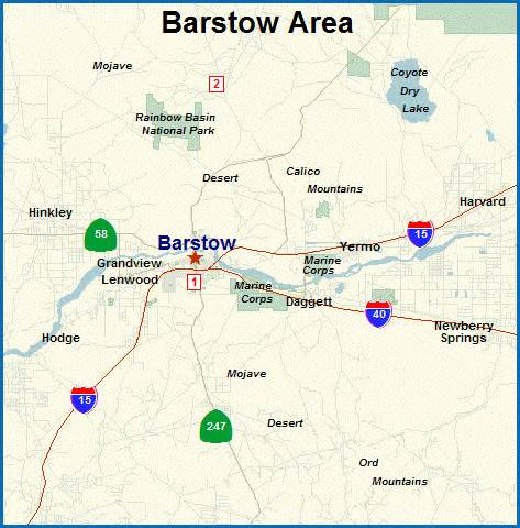 barstow california map