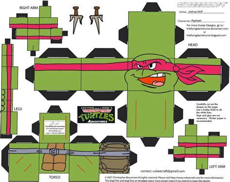 Mutant Turtles Papercraft - tmnt3 raphael cubee by theflyingdachshund deviantart