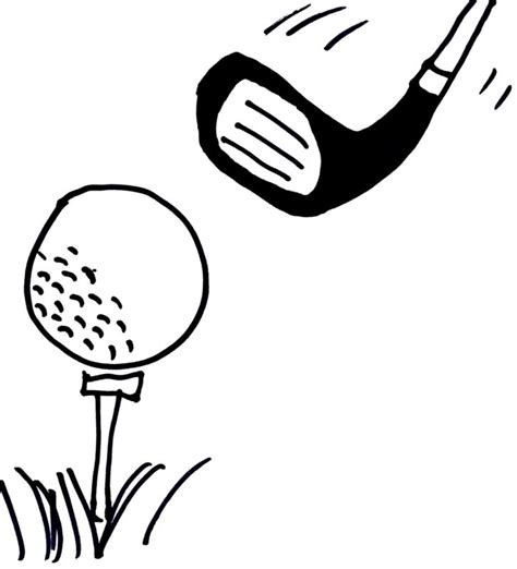 printable golf images golf drawings clipart best