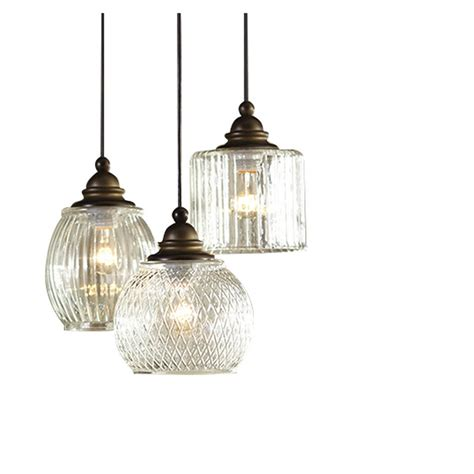 Allen And Roth Pendant Light Shop Allen Roth Cardington 14 67 In Aged Bronze Vintage Multi Light Clear Glass Dome Pendant