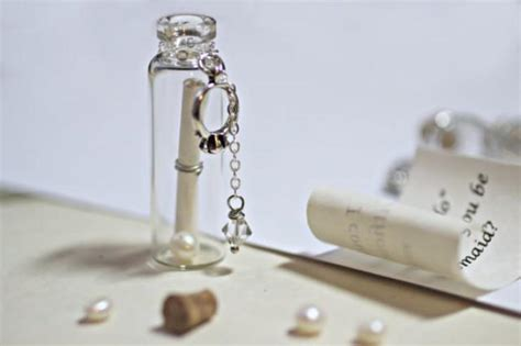 unique personalized bridesmaid jewelry gifts message in a bottle secret message will you be my
