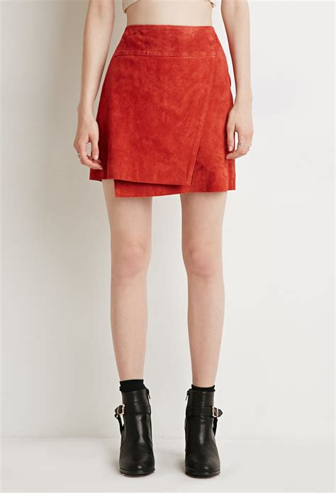 How To Make Paper Skirt - forever 21 contemporary genuine suede origami skirt in