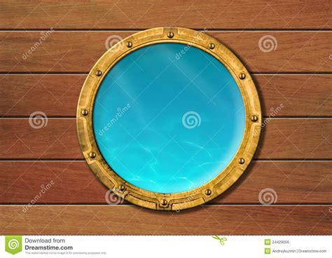 dessin bateau avec hublot hublot de bateau avec la vue sous marine image libre de