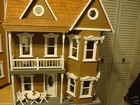 custom doll houses custom built dollhouse furnished dollhouses pinterest