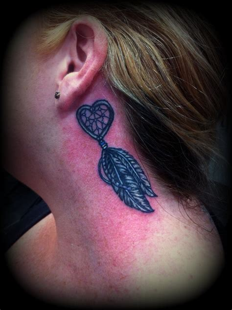 small dreamcatcher tattoo behind ear ear images designs