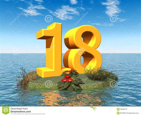 imagenes de cumpleaños numero 18 el n 250 mero 18 stock de ilustraci 243 n imagen de partido