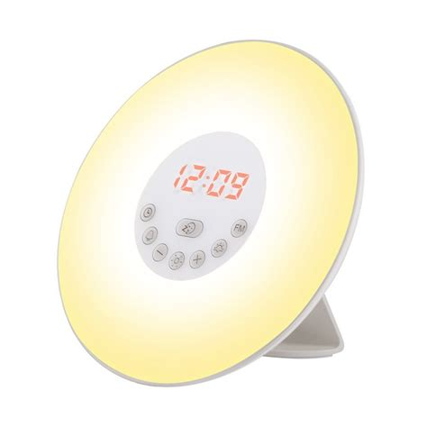 up light alarm clock led fm radio bedside