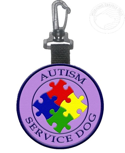 a service for autism autism service identification hanging patch tag