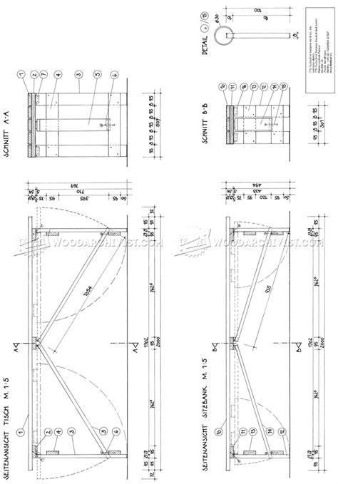 small picnic table plans folding picnic table plans woodarchivist