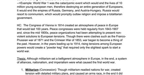 World War 1 Essay Dbq by Essay On Ww1 Docoments Ojazlink