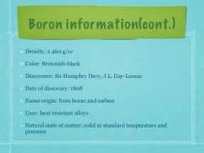 Boron Number Of Protons B Boron
