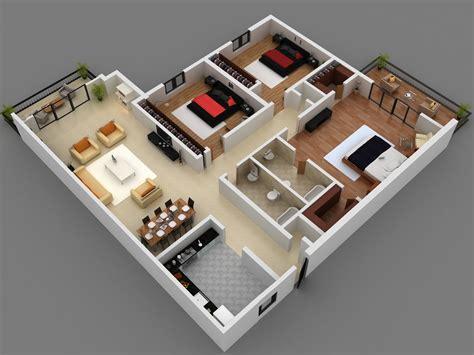 Home Interior Plan 3 Bedroom Floor Plans Home Round