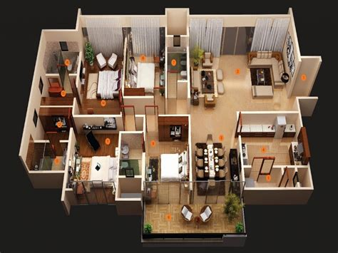 Home Design 3d 2 Story by Inspirational 5 Bedroom House Plans 3d House Plan