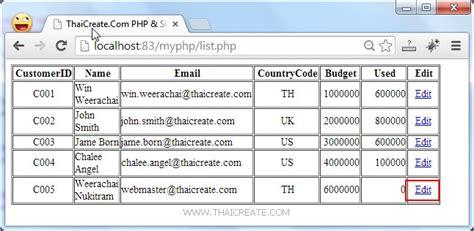 tutorial php sql php sql server edit update data record sqlsrv