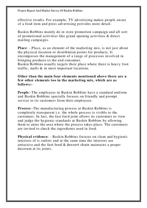 Market Survey Report Writing by Project Report And Market Survey Of Baskin Robbins Cbse Class 12 Ent