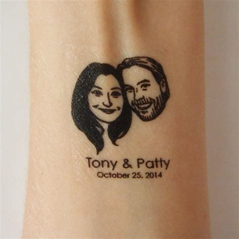 custom temp tattoos personalized temporary favor custom wedding