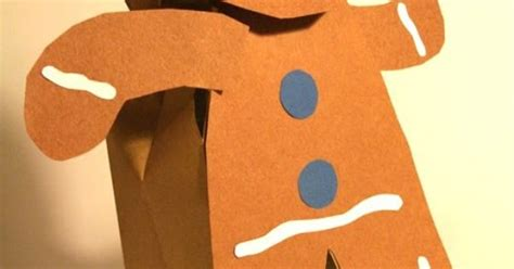 printable gingerbread man paper bag puppet art activities gingerbread paper bag puppet art project