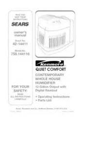758 144116 kenmore comfort 12 gallon humidifier