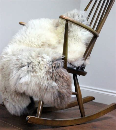 sheepskin throw for rocking chair breed sheepskin rug by the forest co