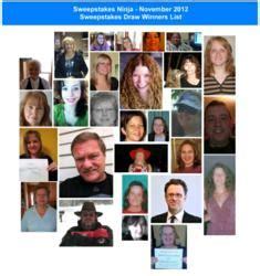 Sweepstakes Winners List - 3 000 in prize winners announced for november 2012 sweepstakes ninja sweepstakes draws