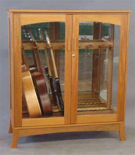 Guitar Storage Cabinet Made Asian Modern Guitar Cabinet By Katahdin Studio Furniture Custommade