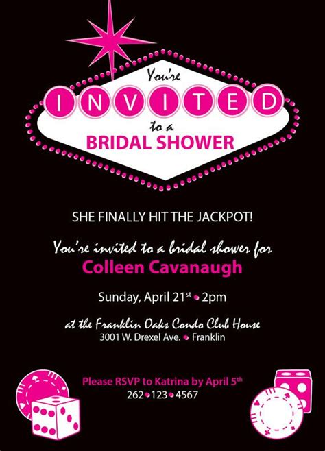 bridal shower places in las vegas bridal shower invitations bridal shower invitations vegas