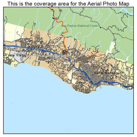 california map santa aerial photography map of santa barbara ca california