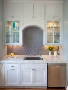 Gray Backsplash Kitchen Grey Subway Tile Backsplash Contemporary Kitchen