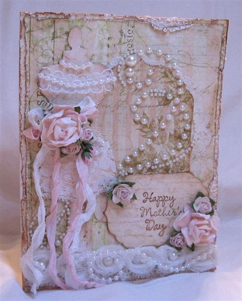 shabby vintage chic mother s day card who s mother would not like this shabby chic