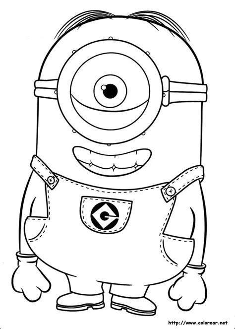imagenes en blanco y negro minios dibujos para colorear de minions