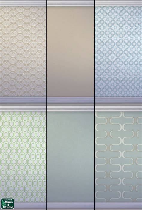 Matching Wall Paint geometric accents wallcoverings by om sims 4 studio