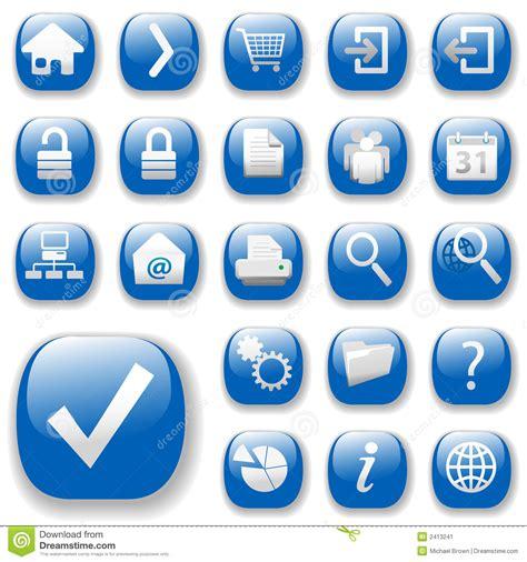 Imagenes Iconos Web | iconos del web azul dropshadows imagen de archivo